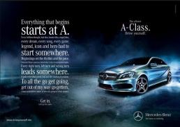 Mercedes A-class ad